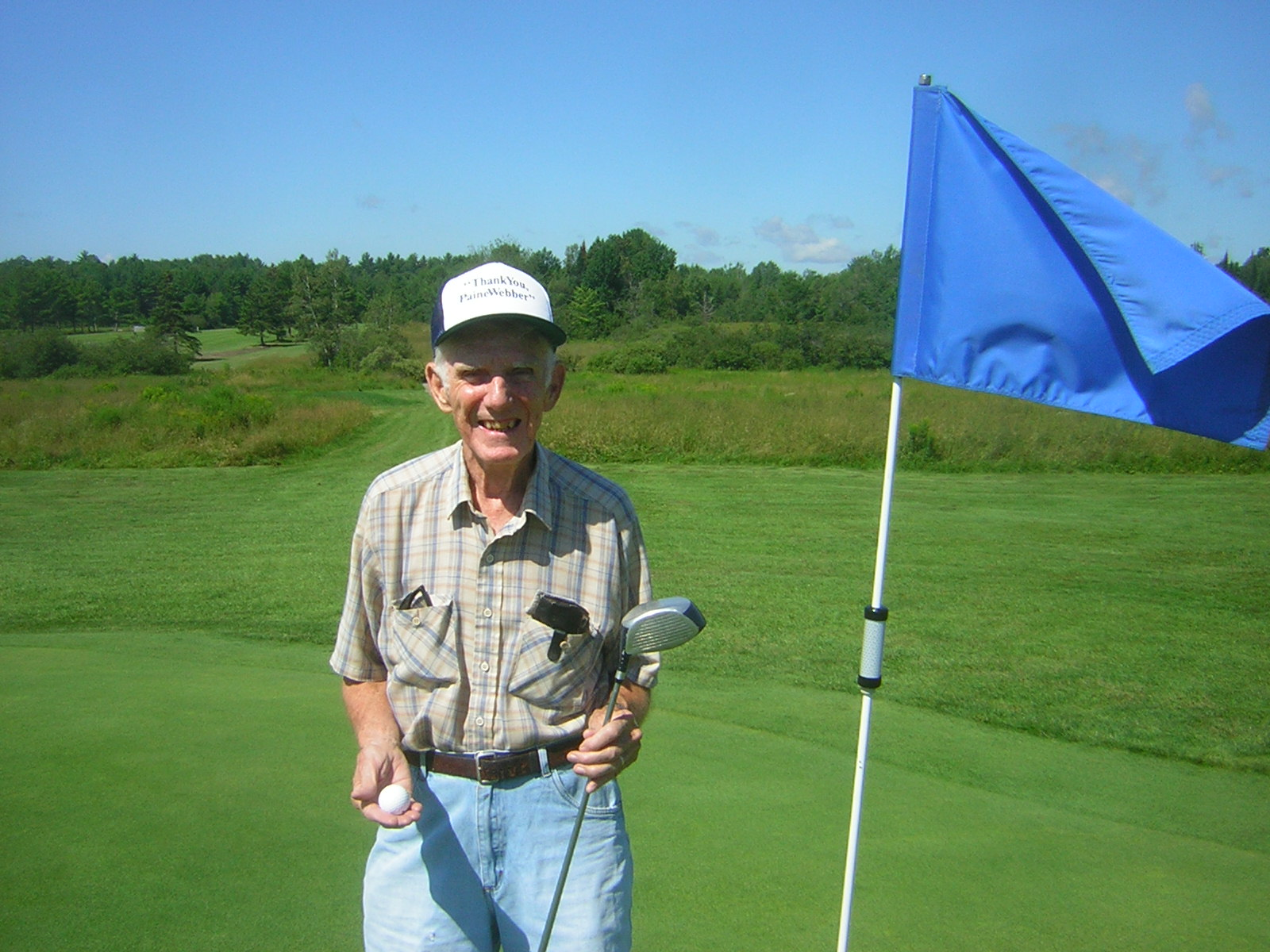 Ron Blair on #4, where he made his first-ever hole-in-one.